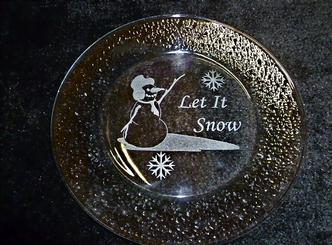 Glass plate for winter