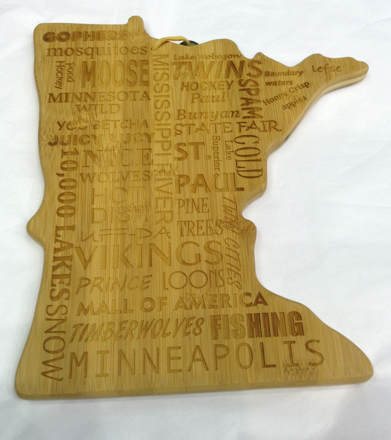 Bamboo Minnesota Cutting Board