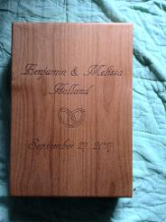 Custom Engraved box for wedding gift